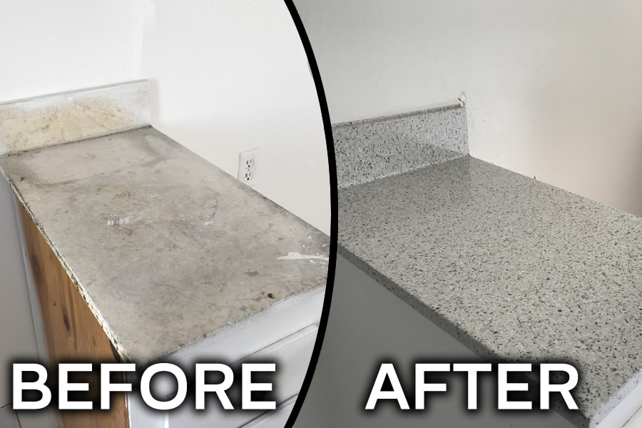 countertop before and after